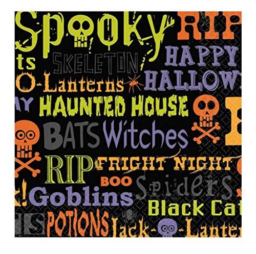 Islander Fashions Adult Halloween Spooky Mittagessen Servietten Pack von 16 Unisex Party Supplies Zubeh�r Einheitsgr��e