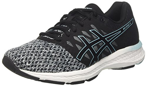 Asics Gel-Exalt 4, Zapatillas de Running para Mujer, Negro (Black/Dark Grey/Porcelain Blue 9095), 38 EU