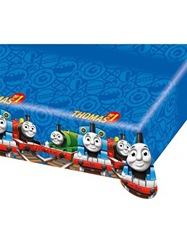 amscan Friends Nappe-Plastique Thomas Le Train, 552160, 120 x 180 cm