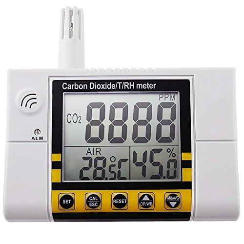 Kohlendioxid / Temperatur / Luftfeuchtigkeit Luftqualität Monitor Meter, 220 V Plug-In Wandmontage CO2-Detektor, RH Innenluftqualität IAQ Sensor, 0 ~ 2000ppm Bereich -