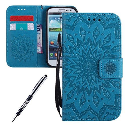 Galaxy-S3-Custodia-Galaxy-S3-Custodia-Portafoglio-Galaxy-S3-i9300-Custodia-Pelle-JAWSEU-3D-Goffratura-Ragazza-Gatto-Fiore-Diamante-Lusso-PU-Leather-Flip-Cover-Custodia-per-Samsung-Galaxy-S3-neo-Wallet