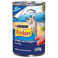 Purina Friskies Deep Sea Delights Pure Tuna Cat Wet Food 400g(Pack of 1)