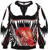 Pizoff Unisex Hip Hop Sweatshirts mit 3D Digital Print 3D Muster Monster Y1759-F9-S