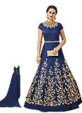 Best Anarkali Suits - F4style Designer Blue Taffeta Silk Anarkali Suit (ER104128) Review