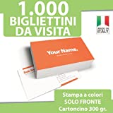 1000 BIGLIETTI DA VISITA Bigliettini STAMPA solo FRONTE a COLORI personalizzati printerland.it