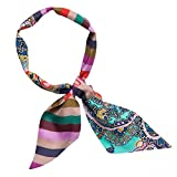 CODELLO MINI SEIDEN-TUCH SCARF TWILLY DIGITAL STRIPE Streifen PAISLEY pink blau 82072704 (Dark Pink)