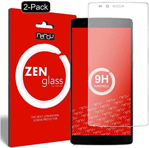 nandu I ZenGlass [2 Stück] Flexible Glas-Folie für Vernee Apollo Lite 4G (5,5 Zoll) Panzerfolie I Bildschirm-Schutzfolie 9H