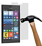 yayago Bildschirmschutzglas 0,26 mm Bildschirmschutzfolie für Nokia Lumia 730 Glasfolie Hartglas 9H (bewusst Kleiner als Das Bildschirm, da Dieses gewölbt ist)