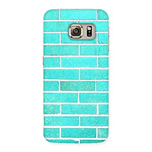 Gorgeous Brick Cyan Back Case Cover for Samsung Galaxy S6 Edge
