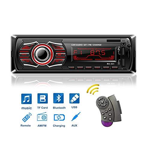 X-REAKO Radio Coche Autoradio Bluetooth Apoyo de Reproductor MP3 Llama