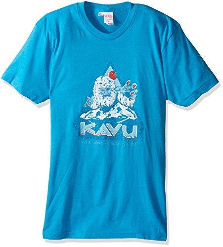 KAVU Herren T-Shirt Yeti, Herren, neonblau, Medium -