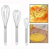 OFKPO 3 Piezas Varilla para Batir - Utensilios de Cocina para triturar,Set of 3 8-inch/10-inch/12-inch
