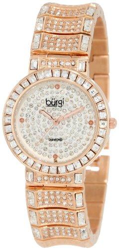 Burgi Damen Diamond & Baguette Quartz Uhr