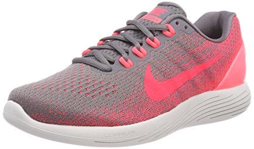 Nike Damen WMNS Lunarglide 9 Laufschuhe, Grau (Gunsmoke/solar Red/hot Punch/v 006), 38 EU -
