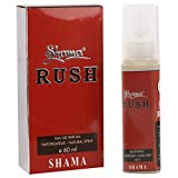 SHAMA Rush Series Alcohol Free, Undiluted Perfume for Men, 60 ml Bottl