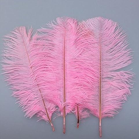 SOWDER 20Natur 25,4–30,5cm (25–30cm) Strauß Federn Plume für Hochzeit Aufsteller Home Dekoration rose