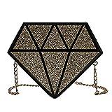 AgooLar Damen Einkaufen Paillette Taschen Umhängetaschen,GMLBA206798,Golden