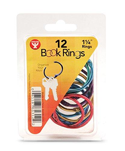 HYGLOSS Buch Ringe (50Pack), verschiedene Farben, verschiedene Farben, 1 1/4 inch