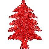 1000 Pezzi Bottone di Natale Rotondo Craft Bottoni in Resina per Artigianato Cucito Festa di Natale Decorazioni, 2 Fori e 4 Fori (Rosso)