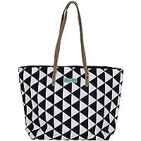 fashy/® Damen Strandtasche mit herausnehmbarer Innentasche aus Neopren mit Druckverschlu/ß und Bodenfalte.