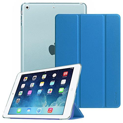 Fintie iPad Air Hülle Case - Ultradünne Superleicht Schutzhülle mit transparenter Rückseite Abdeckung Cover mit Auto Schlaf / Wach und Standfunktion für Apple iPad Air 2013 Modell, Königsblau