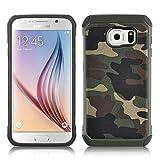 JAMMYLIZARD Camouflage Hülle für Samsung Galaxy S7 | Outdoor-Schutzhülle [Army HD] Military Case aus Silikon und Leder mit Tarnmuster, Grün