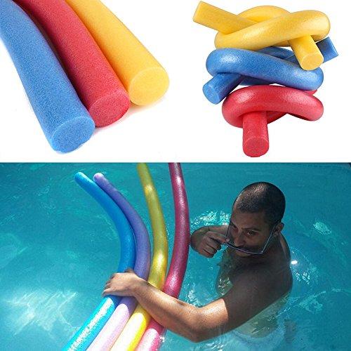 CVERY Schwimmbadnudel, Schaumstoff-Schwimmhilfe, Woggle Logs, Nudeln, für Schwimmanfänger, Assistenzausrüstung, 4 Stück, Zufällige Farbe Wird geliefert, Set in Random