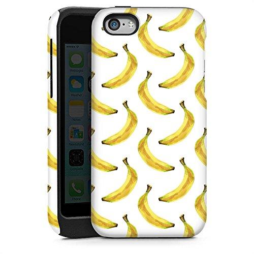Apple iPhone 4 Housse Étui Silicone Coque Protection Bananes Été Fruits Cas Tough brillant