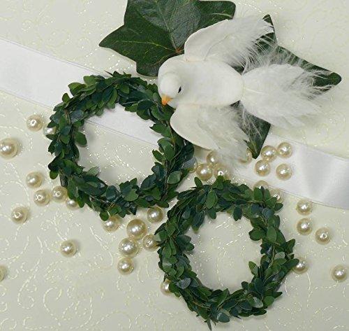 Serviettenringe Ringe Serviette grün Hochzeit Kerzenringe Tischdeko Buchsbaum (Ring Hochzeit Buchsbaum)