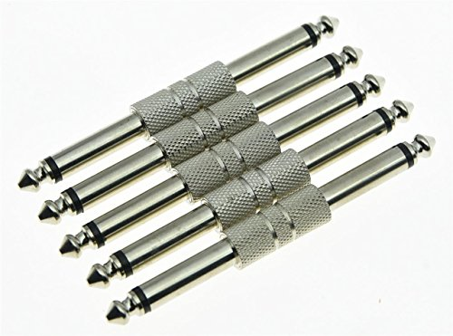 kaish 5x Guitar Effect Pedal Stecker 6,35mm gerade Pedale Mono Adapter Anschluss Pedal-anschluss