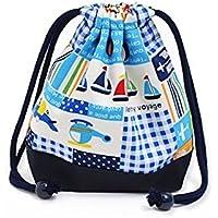 Being shaken drawstring Gokigen lunch (small size) with gusset bag cup Vehicles Happy Travel (navy) x Ox navy blue made in Japan N3563400 (japan import) preisvergleich bei kinderzimmerdekopreise.eu