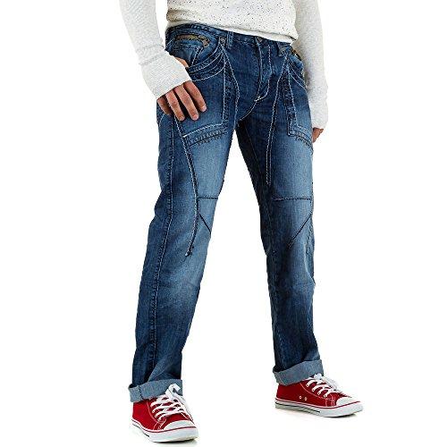 Used Look Biker Jeans Für Herren bei Ital-Design Blau