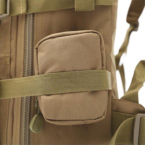 60L Wandern Rucksack mit Molle Tasche / Militär Tasche / Militär Rucksack / Rucksack Uniform / Camping taktischen Rucksack (Camouflage / schwarz / ACU / khaki) B