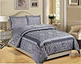 Moonlight20015 Moonlight Jacquard 3 Piece Bedspread Comforter Set - Best Reviews Guide