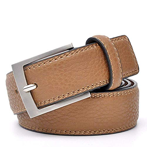 aoliaoyudonggha Mens Trends Jeans Cowskin Dress Accessories Trouser Waistband Silver Metal Belt -