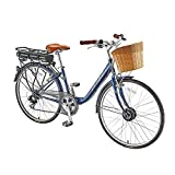 CaddyTek Incontro Bike 313W 36V 8.7Ah Pedelec Power assist Electric Bicycle, Lithium-Ion Battery, 7 Speed, Matte Blue, Shimano RD-TX35B, Shimano MF-TZ21, 14-28T 7 SPEED