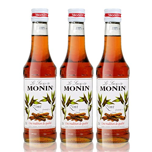 3x Monin Zimt Sirup, 250 ml Flasche