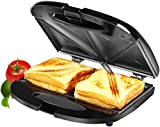 Amazon Brand - Solimo Non-Stick Sandwich Maker (750 watt, Black)
