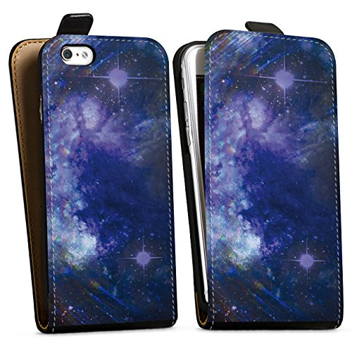 Apple iPhone X Silikon Hülle Case Schutzhülle Universum Nacht Himmel Downflip Tasche schwarz