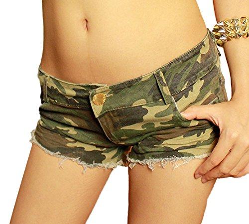 DQQ Damen Short Grün - Camouflage 623