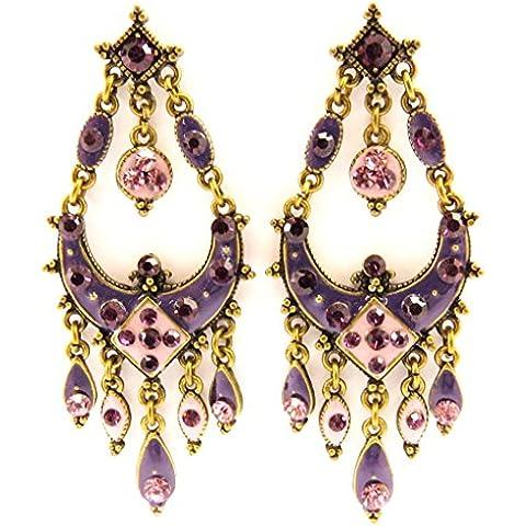 Pendenties 'french touch' 'Diva' púrpura / violeta.