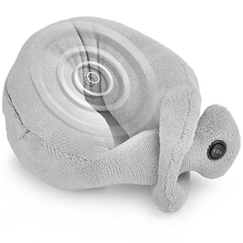 Oramics Relax Cushion Nackenmassage Kissen in Grau mit zwei Vibrationsstufen Massagekissen