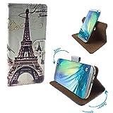 Alcatel Pixi 4 (4034D) 4 Zoll - Smartphone Tasche / Schutzhülle mit 360° Dreh und Standfunktion - 360° Paris 2 Nano XS