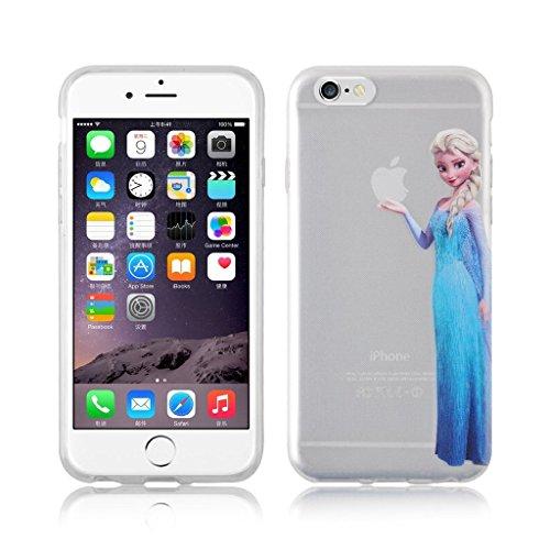 iCHOOSE Princesse Personnage Silicone Protection Coque Housse pour Apple iPhone 5C / Inclut un protecteur d'écran & Cloth / Ariel Elsa