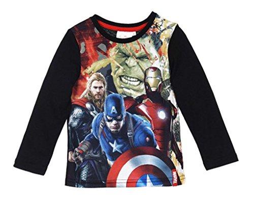 Avengers -  Maglia a manica lunga  - ragazzo nero 10 Anni