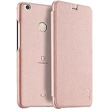 XiaoMi Mi Max 2 Funda - Protección Completa Suave Cubierta Caja Cubierta del Tirón con Ranura Tarjetas para XiaoMi Mi Max 2 - Pink