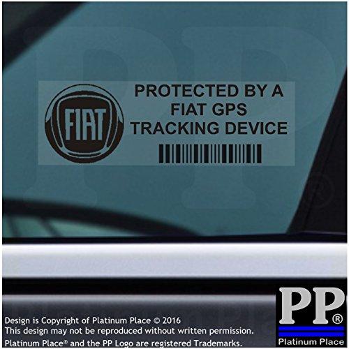 5X Ppfiatgpsblk appareil de suivi GPS Noir Sécurité pour fenêtres Stickers 87x Installed on This Vehicle, van Alarme tracker