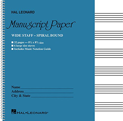 pdf free wide staff wirebound manuscript paper aqua cover download