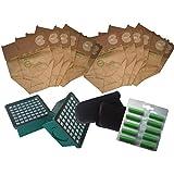 Set de 12 Bolsas para Vorwerk Kobold VK 130/131 + 2 Microfiltros Higienico + 2 Filtros de Motor + 12 Ambientadores para Aspiradoras Kobold VK 130/131 - Garantía: 24 Meses Bosaca Oficial