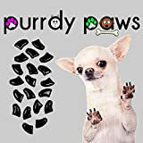 40-Pack Jumbo Size Black Soft Nail Caps For Dogs Claws * Purrdy Paws Brand